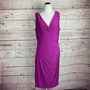 Lauren Ralph Lauren Faux Wrap Sheath Dress Sz 12